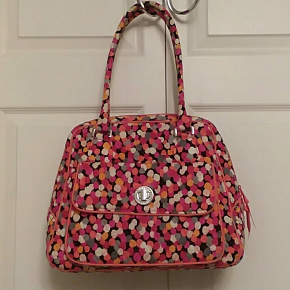 1317c5eeeb Vera Bradley Pixie Confetti Turn Lock Satchel Bag.  M 5b99c68461974555c3259914. Other Bags ...